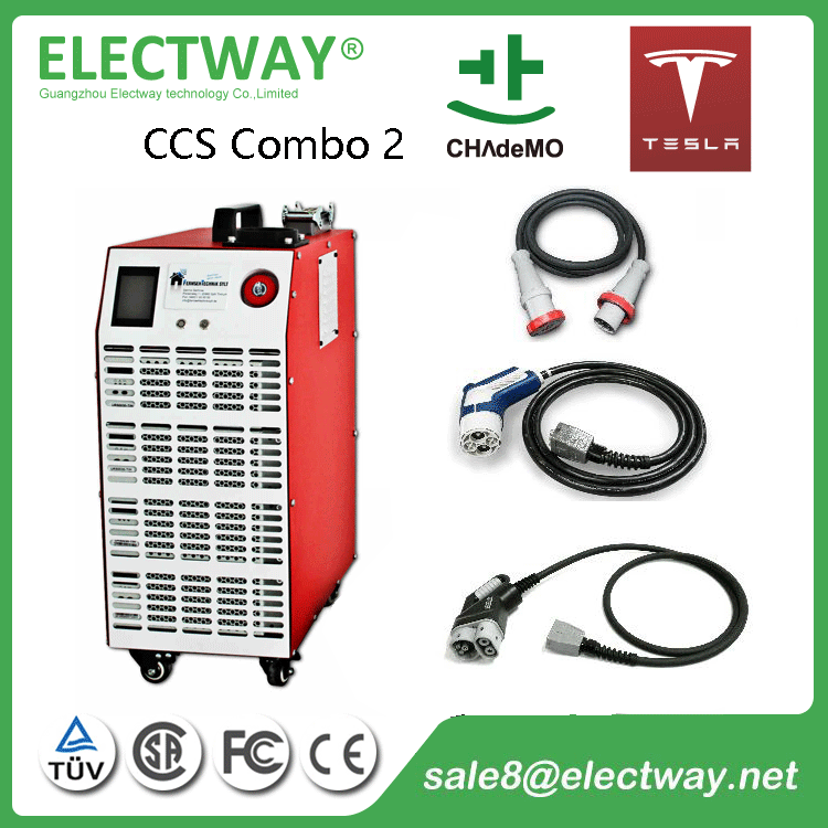 60kW CCS Combo&CHAdeMO mobile type supercharger